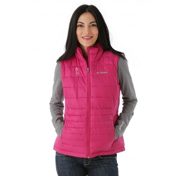 Columbia Tested Tough In Pink Powder Pillow Vest (Deep Blush)