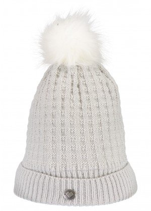 Obermeyer Womens Beulah Knit Hat With Faux Fur Pom - WinterWomen.com