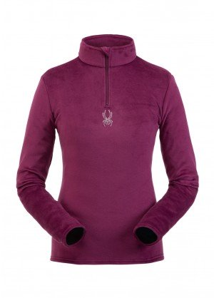 Spyder Womens Shimmer Bug Zip T-Neck - WinterWomen.com